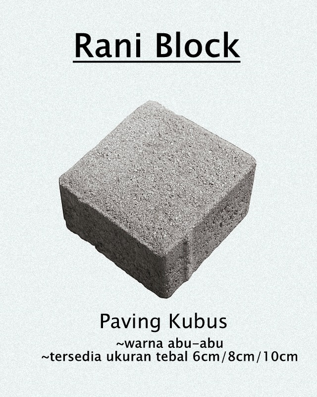 Paving Kubus Rani Block