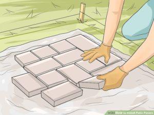 Pemasangan Paving Block Mengikuti Pola
