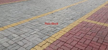 Kombinasi warna pada paving block Unipave (Cacing)