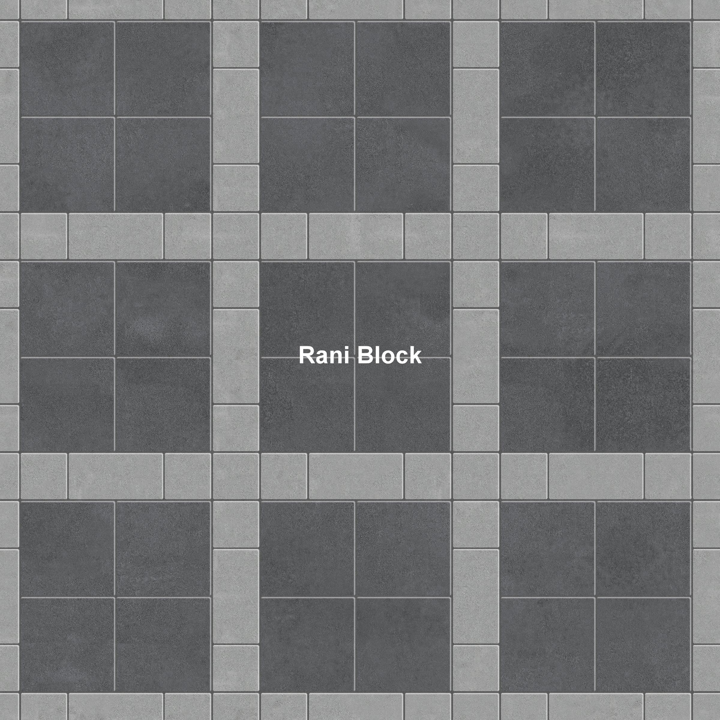 Kombinasi Paving Block Bata, Ubin dan Kubus Rani Block