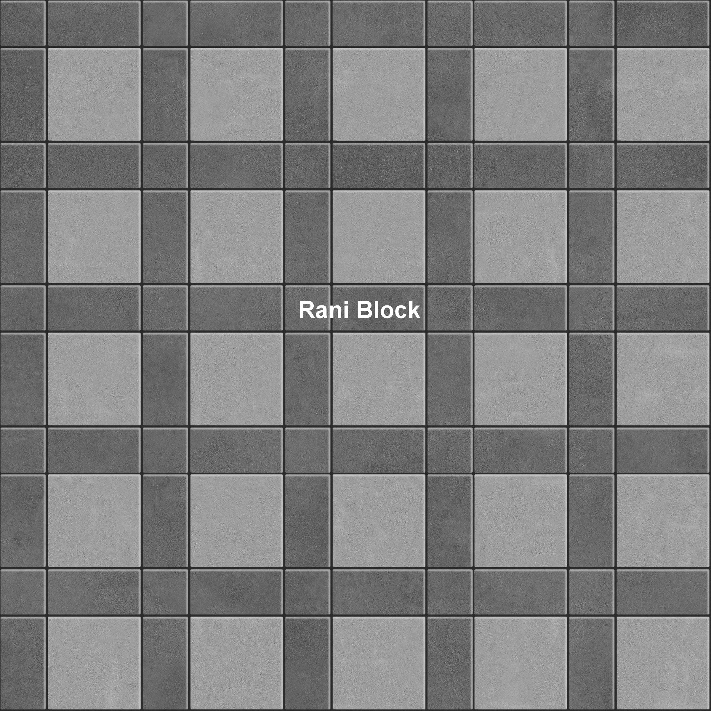 Kombinasi Paving Block Bata, Ubin dan Kubus