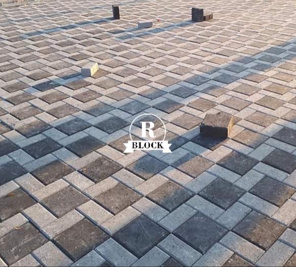 Kombinasi pola pemasangan paving block