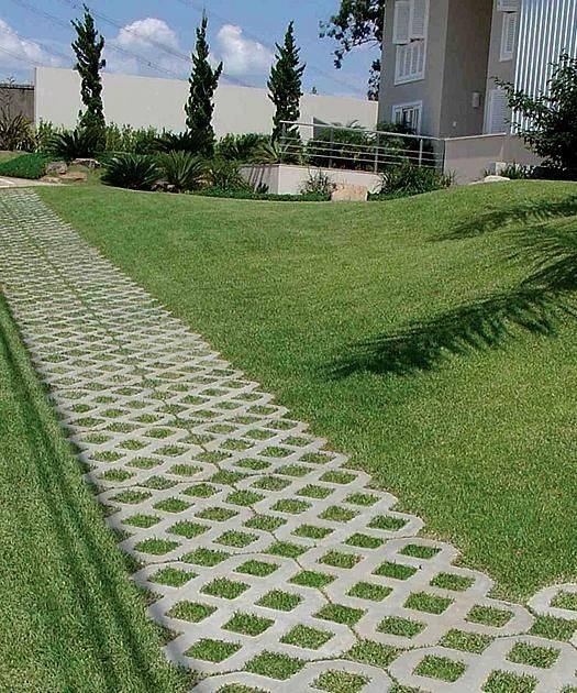 Grass Blocks are permeable concrete pavers that offer an environmentally-friendly
