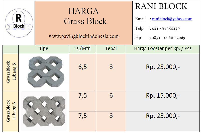 Harga Grass Block