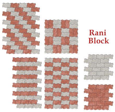 Pola Pemasangan Paving Block Cacing atau Unipave